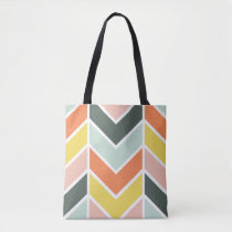 Cheerful Chevron Tote Bag