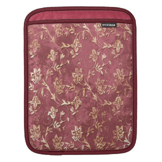 Cheerful chic retro vintage floral iPad sleeve