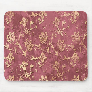 Cheerful chic retro vintage floral mouse pad
