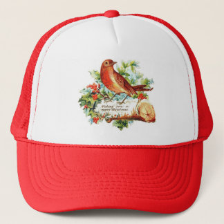 Cheerful Christmas Greetings Trucker Hat