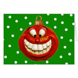 Cheerful Christmas Ornament Card