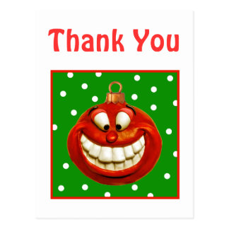Cheerful Christmas Ornament Postcard