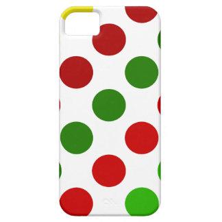 Cheerful Christmas Polka Dot Stripes iPhone 5 Case