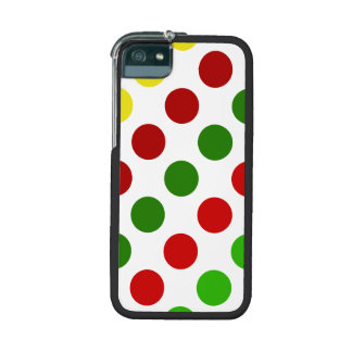 Cheerful Christmas Polka Dot Stripes Cover For iPhone 5