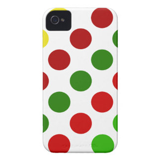 Cheerful Christmas Polka Dot Stripes Case-Mate iPhone 4 Cases