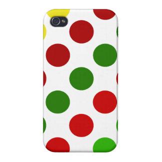 Cheerful Christmas Polka Dot Stripes iPhone 4 Cover