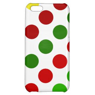 Cheerful Christmas Polka Dot Stripes iPhone 5C Covers