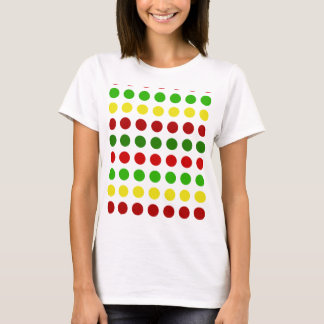 Cheerful Christmas Polka Dot Stripes T-Shirt