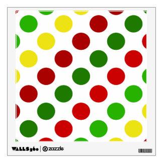 Cheerful Christmas Polka Dot Stripes Wall Decal