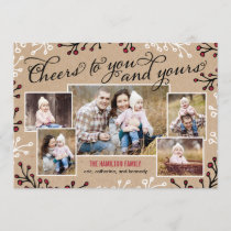 Cheerful Collage Holiday Photo Card