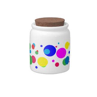 Cheerful Color Circles Candy Jar