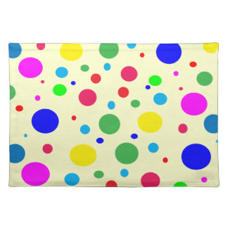 Cheerful Color Circles Cloth Placemat