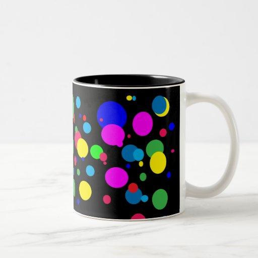 Cheerful Color Circles Coffee Mugs