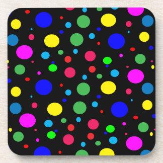 Cheerful Color Circles Coaster