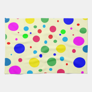 Cheerful Color Circles Hand Towels