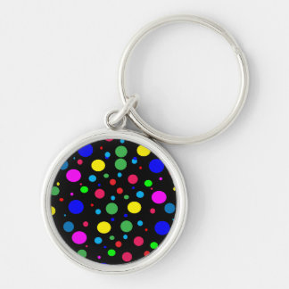 Cheerful Color Circles Keychain