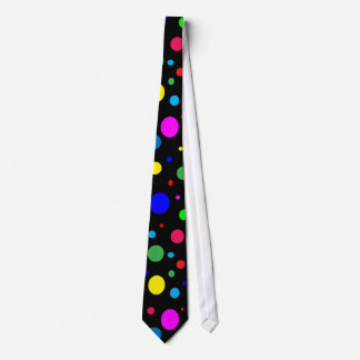 Cheerful Color Circles Neck Tie
