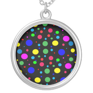 Cheerful Color Circles Silver Plated Necklace