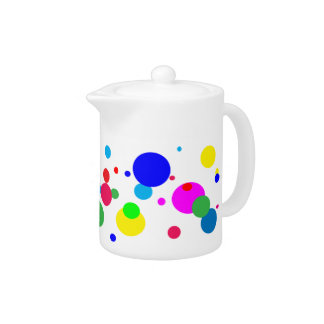 Cheerful Color Circles Teapot
