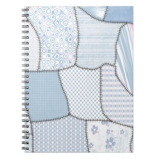 Cheerful colorful cute patchwork spiral notebook