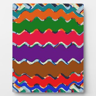 Cheerful Colorful Wave Pattern Plaque