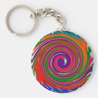 Cheerful Colorful whirl wind twirl design Keychain