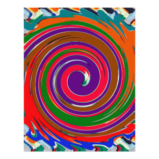 Cheerful Colorful whirl wind twirl design Letterhead