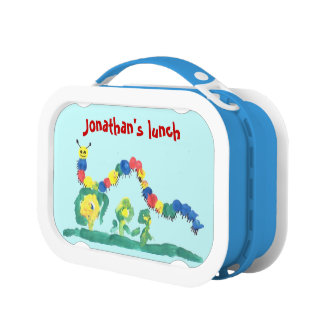 Cheerful Colorfully Painted Caterpillar Lunchboxes