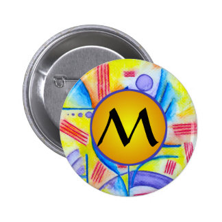 Cheerful Composition with Yellow Monogram Pin