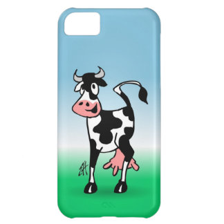 Cheerful cow in a meadow case for iPhone 5C