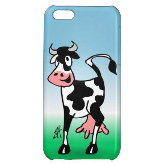 Cheerful cow in a meadow cover for iPhone 5C