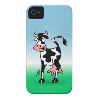 Cheerful cow in a meadow iPhone 4 Case-Mate case