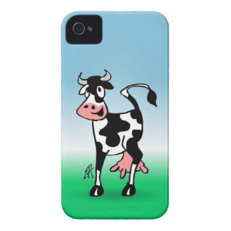 Cheerful cow in a meadow iPhone 4 cover
