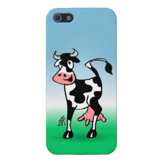 Cheerful cow in a meadow iPhone SE/5/5s case
