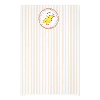 Cheerful cute baby chicken pattern stationery
