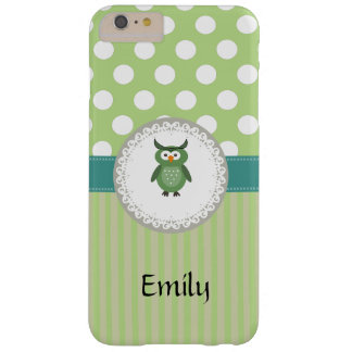 Cheerful cute owl doily lace barely there iPhone 6 plus case