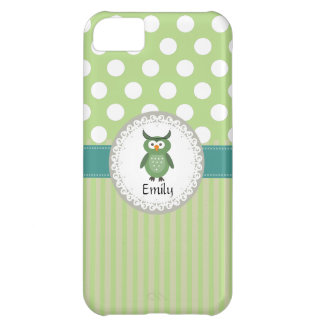 Cheerful cute owl doily lace cover for iPhone 5C