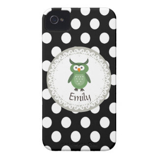Cheerful cute owl doily lace iPhone 4 case