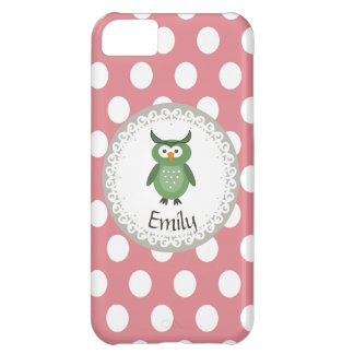 Cheerful cute owl doily lace iPhone 5C case