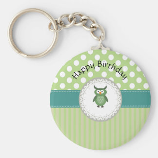 Cheerful cute owl doily lace keychain