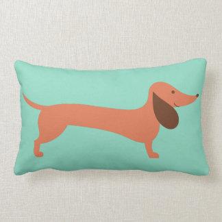 Cheerful Dachshund Lumbar Pillow