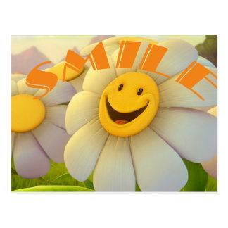 Cheerful Daisies Smile Postcard