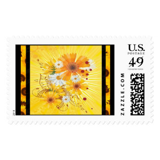 Cheerful Daisy Postage Stamps