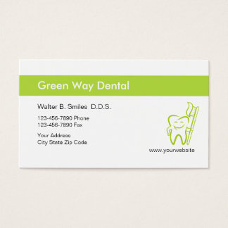 Cheerful Dentist Business Cards