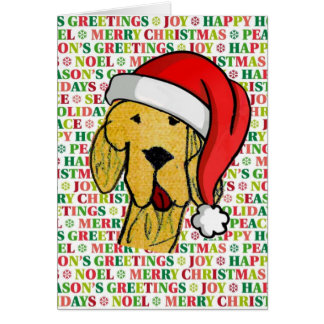Cheerful dog christmas card