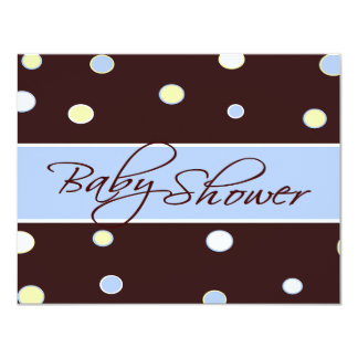 Cheerful Dots Baby Shower Invitation
