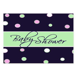 Cheerful Dots Baby Shower Registry Card Large Business Cards (Pack Of 100)