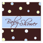 Cheerful Dots Baby Shower Square Invitation