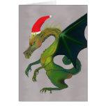 Cheerful Dragon Holiday Greeting Card