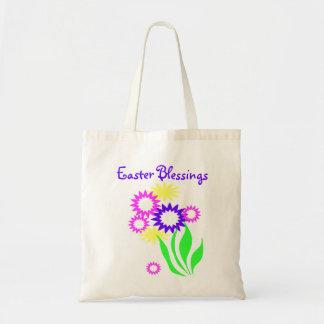 Cheerful Easter Flowers Tote Bag